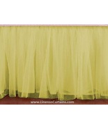 Yellow Tulle Double Layer Ruffle Table Skirt - $119.99+