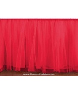 Coral Tulle Double Layer Ruffle Table Skirt - $119.99+