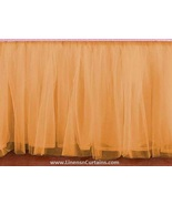 Gold Tulle Double Layer Ruffle Table Skirt - $119.99+