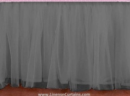 Light Grey Tulle Double Layer Ruffle Table Skirt - $119.99+