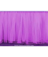 Lilac Tulle Double Layer Ruffle Table Skirt - $119.99+