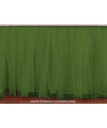 Olive Green Tulle Double Layer Ruffle Table Skirt - $119.99+