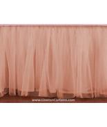 Peach Tulle Double Layer Ruffle Table Skirt - $119.99+