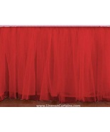 Red Tulle Double Layer Ruffle Table Skirt - $119.99+