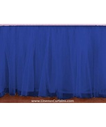 Royal Blue Tulle Double Layer Ruffle Table Skirt - $119.99+
