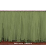 Sage Green Tulle Double Layer Ruffle Table Skirt - $119.99+