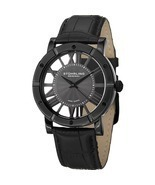 Swiss Quartz Watch Men's Winchester Advanced Strap Stuhrling Black Cutou... - $189.89