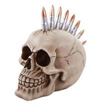 Skull Head Protruding Bullet Heads Collectible Skull Gun Bullets Gun Rifle Lover - $19.31