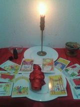 Reconciliation, binding and commanding ritual. With doll pins ribbon Tarot cards - $333.33