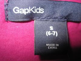 GAP Kids Girl T-shirt Tee Sz S 6 7 Long Sleeve Pleated  Hot Pink Cotton Top New image 3