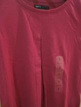 GAP Kids Girl T-shirt Tee Sz S 6 7 Long Sleeve Pleated  Hot Pink Cotton Top New image 2