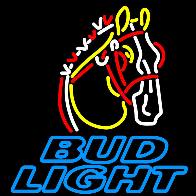 Bud Light Clydesdale Neon Sign - Neon