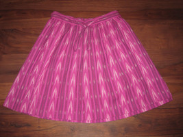 GAP Skirt Sz 14 Pink Ikat Pleated String Tie 100% Cotton - Orig$59.95 - $29.99