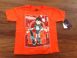 Disney Tomorrowland Boys T-shirt Tee Sz 7 Orange Graphic Cotton Short Sl... - $13.99