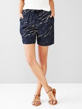 Gap Jogger Shorts Sz S Drawstring Abstract Print Navy Soft Fabric Mid Ri... - $29.99