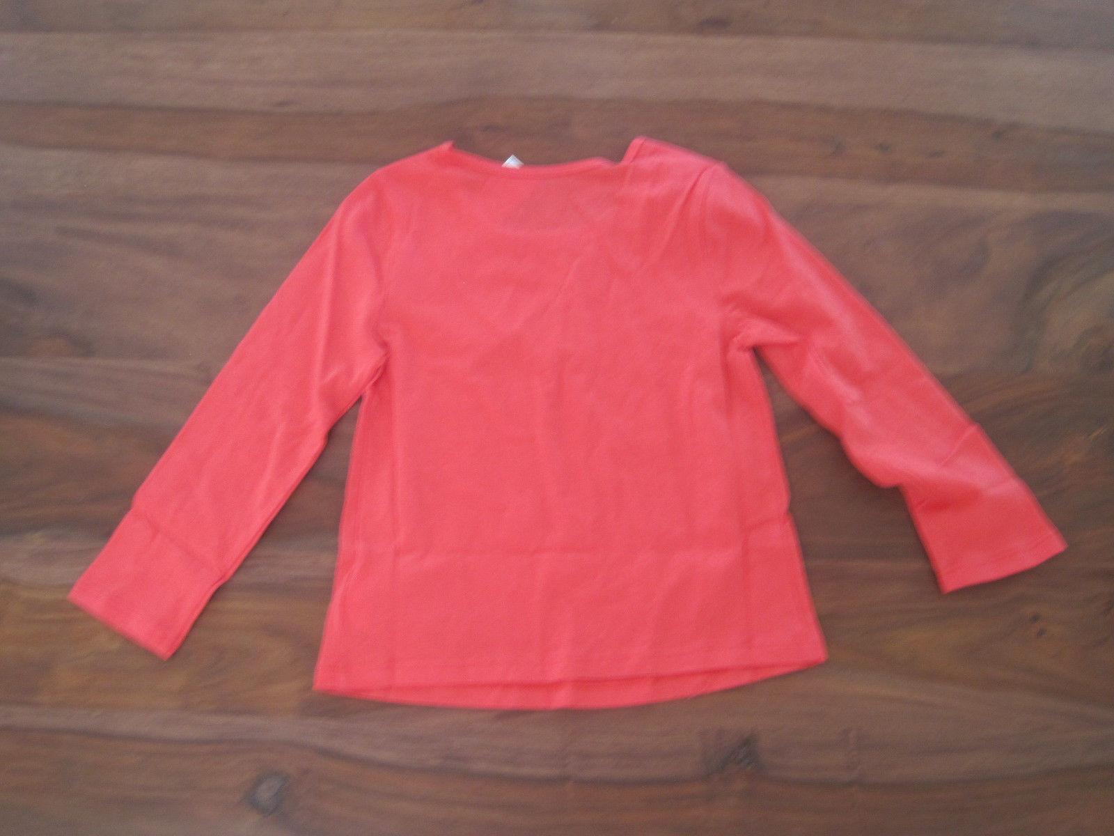 Gap Baby Girl Tee Top  Sz 4 Orange Ruffle Long Sleeve Roun Neck 100%  Cotton New image 2