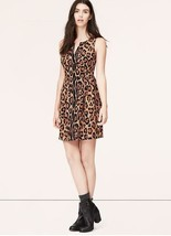 Ann Taylor LOFT Dress Sz 0 2 4 8 Animal Print Leopard Sleeveless Fit & F... - $34.95