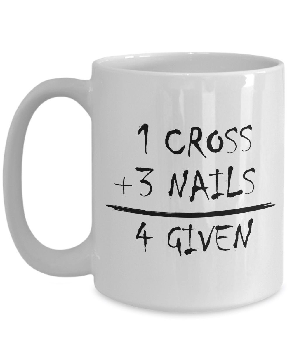 Primary image for God's Math Christian Gift 1 Cross 3 Nails 4 Given Jesus Christ Savior Ceramic Co