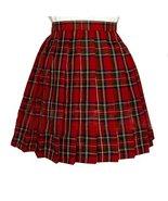 Women`s School Scottish tartan high Waist short Skirts (4XL,Red Grey Bro... - $24.74