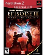 Star Wars Episode III Revenge of the Sith - PlayStation 2 [PlayStation2] - $5.45