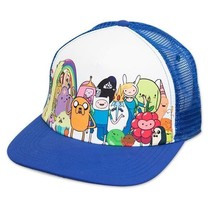 New Authentic Adventure Time Cast Adjustable Snapback Trucker Hat - $17.92
