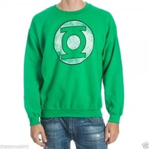 New Authentic DC Comics Green Lantern Distressed Logo Crew Neck Sweatshirt  - $28.61