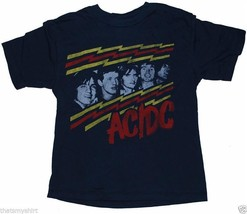 New Authentic Junk Food AC/DC Faces Boys T-Shirt in Blue - $16.28