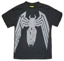 New Authentic Junk Food Marvel Comics Black Spiderman Boys T-Shirt - $20.92