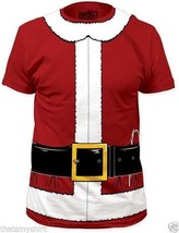 New Authentic Mens Santa Claus Costume Tee Shirt Sizes S-2XL  - $24.02+