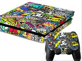 2x Skin Wrap Sticker For PS4 Playstation Decal Cover Accessory Sticker Cartoon - $9.00