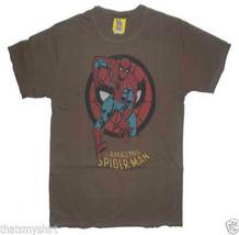 New Junk Food Marvel Comics Amazing Spider-Man Boys T-Shirt in Chocolate - $21.38