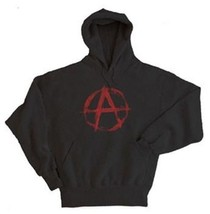 New Mens Anarchy Symbol Pullover Hoodie Size XL - $25.96