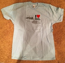 New Mens I Love Meat and Potatoes Tee Shirt Clearance Size Large - $13.21