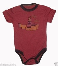 New Rowdy Sprout Beatles Yellow Submarine Vintage Style Infant Snapsuit ... - $30.02