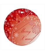 Merry Christmas Round Porcelain Ornament  - $9.99