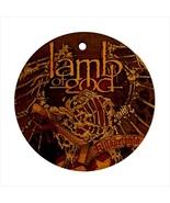 Lamb Of God Round Porcelain Ornament  - $9.99