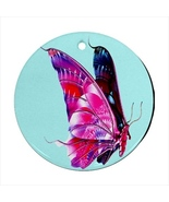 Butterfly Round Porcelain Ornament  - $9.99