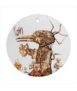 Korn Round Porcelain Ornament  - $9.99