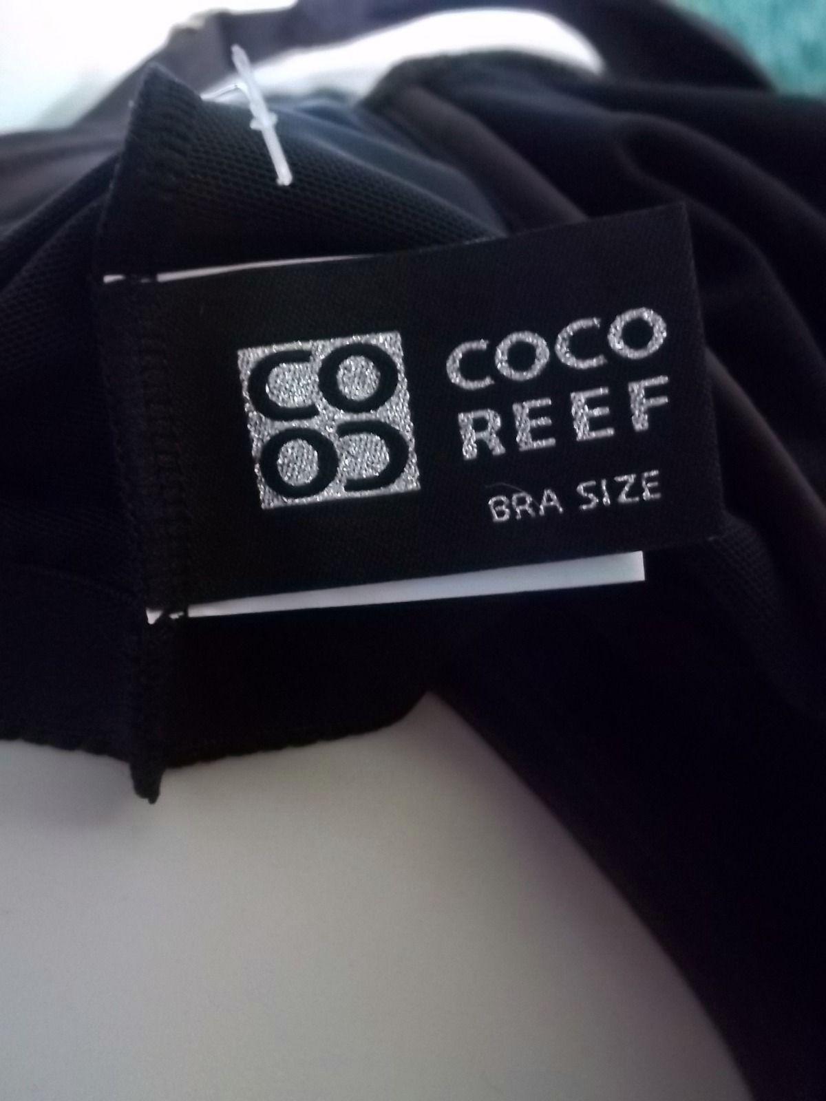COCO REEF COFFEE BEAN TANKINI AND CLASSIC BOTTOM, SIZE MEDIUM/32C
