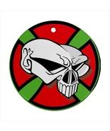 Skull Round Porcelain Ornament  - $9.99