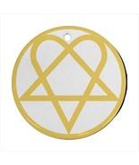 Heartogram Round Porcelain Ornament  - $9.99