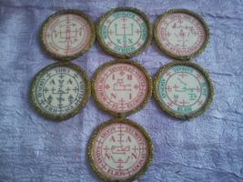 Offer 7 Archangel Seals. Raphael Michael Uriel Gabriel, Samael, Zadkiel,... - $80.00
