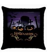 Halloween Custom Throw Pillow Case (Black) - $19.95