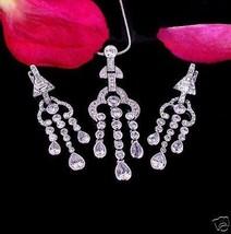 Stunning Oriental Chandelier Earring and Pendant Set - $89.09
