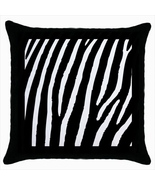 Zebra Custom Throw Pillow Case (Black) - $19.95