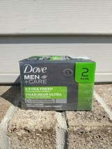 Dove Men+Care Body And Face Bar Soap 2 Pack Extra Fresh Moisturizing - $10.19