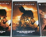 BATMAN BEGINS 2 DISC DELUXE DVD WITH COMIC BOOK USED EXCELLENT CONDITION!