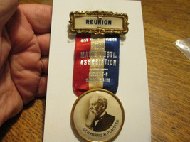CIVIL WAR REUNION MEDAL GEN HARRIS PLAISTED GOVERNOR OF MAINE 1881-83 - $70.00