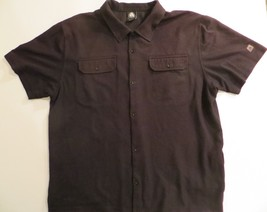 Nike ACG Button Front Dri-Fit Polo Shirt Large L BLACK FRONT POCKETS Waf... - $19.98