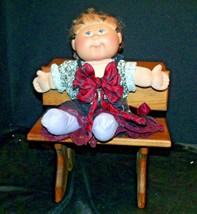 Cabbage Patch Doll sitting at a Large Wooden School Desk AA-191964  Collectible image 2
